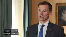 Jeremy Hunt: UK condemns Hong Kong violence