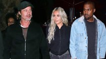 Brad Pitt Parties With Kim & Kanye Party After Lunch Date With Kids