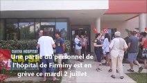 Grève à l'hôpital de Firminy