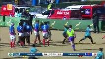 L'essai de 105m de Renzo du Plessis