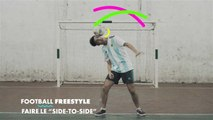 """Football freestyle: faire le """"side to side"""""""