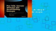 Pro SQL Server Always On Availability Groups  For Kindle