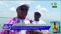 RTB/Visite des députés membres de la commission du développement rural de l'économie et des changements climatiques au barrage de Samendeni