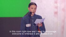 Stranger Things star Millie Bobby Brown dedicates award to Florida shooting victims