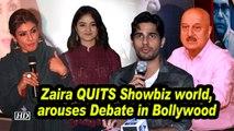 Zaira QUITS Showbiz world, arouses Debate in Bollywood