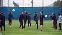 Chile train ahead of their Copa America semi-final against Peru