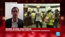 Hong Kong Protests: Protesters Stormed Parliament on Handover Anniversary