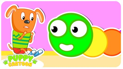 Funny Cartoon  WORM FROM THE GAME  Puppy Dog Family