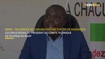 Benin : explications du comité technique de pilotage du RAVIP sur la délivrance de 2.500.000 souches