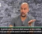 "Man City - Guardiola : ""Anfield est un p..... de stade"""