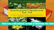 Full version  Backyard Medicine For All: A Guide to Home-Grown Herbal Remedies  Best Sellers Rank