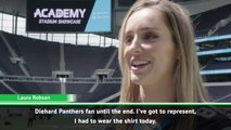 Laura Robson can't hide her love for the Panthers