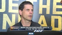 Don Sweeney Discusses Signing Of Goaltender Maxime Lagace