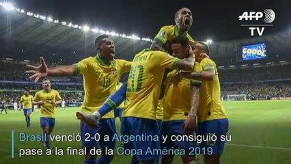 Brasil derrota a Argentina y avanza a final de la Copa América