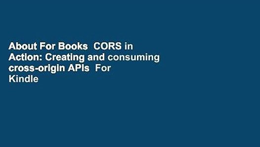 cors in action pdf free download
