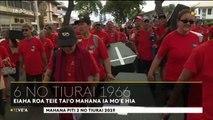 TH : nucléaires : plus de 2000 personnes dans les rues de Papeete pour commémorer le premier tir