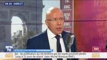 """Éric Ciotti (LR) """"regrette que Michel Barnier n'ait pas pu être le président de la commission"""" européenne"""