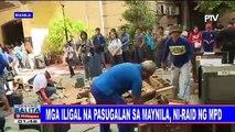 Mga iligal na pasugalan sa Maynila, ni-raid ng MPD