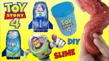 Disney Pixar Toy Story 4 Buzz Lightyear Galactic Slime Design Kit with Sheriff Woody