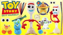 Toy Story 4 FORKY Creativity Set Make Your Own Buzz Lightyear Pom Pom Bunny - Ducky-