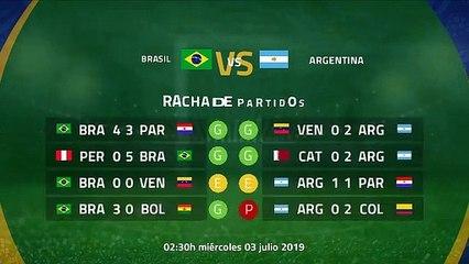 Previa partido entre Brasil y Argentina Copa América 2019