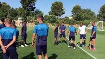 OM : troisième jour d'entraînement pour les Olympiens au centre Robert Louis-Dreyfus