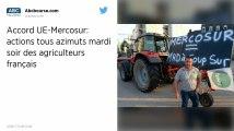 Les agriculteurs français prévoient des actions ce mardi soir pour protester contre l'accord UE-Mercosur