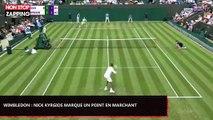 Wimbledon: Nick Kyrgios marque un point en marchant, son adversaire furieux (Vidéo)