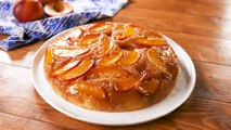 This Summer Peach Upside-Down Cake Has A Boozy Caramel Glaze