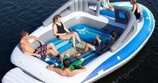 En attendant de faire fortune, ce yacht gonflable vous permettra de profiter de l'été avec vos amis !