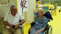 Une centenaire à  la maison de retraite à Gignac