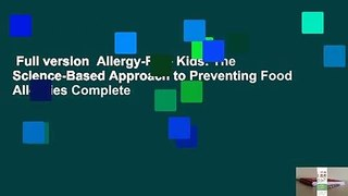 Full version Allergy Free Kids The Science Based A