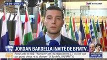 """Jordan Bardella: """"Je ne me suis pas levé pour l'Ode à la joie, parce que je ne me lève que pour l'hymne de mon pays"""""""