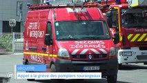Appel à la grève des pompiers tourangeaux