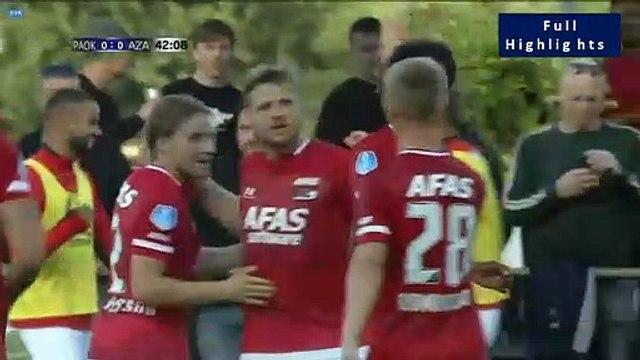 0-1 Calvin Stengs Goal - PAOK 0-1 Alkmaar 03.07.2019 [HD]