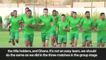 (Subtitled) 'We must not look down on them' Morocco on R16 game vs Benin