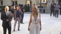Gwyneth Paltrow Gave off Grecian Goddess Vibes in a Plunging White Gown at Valentino Haute Couture