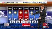 Temperatures cooling for the 4th of July