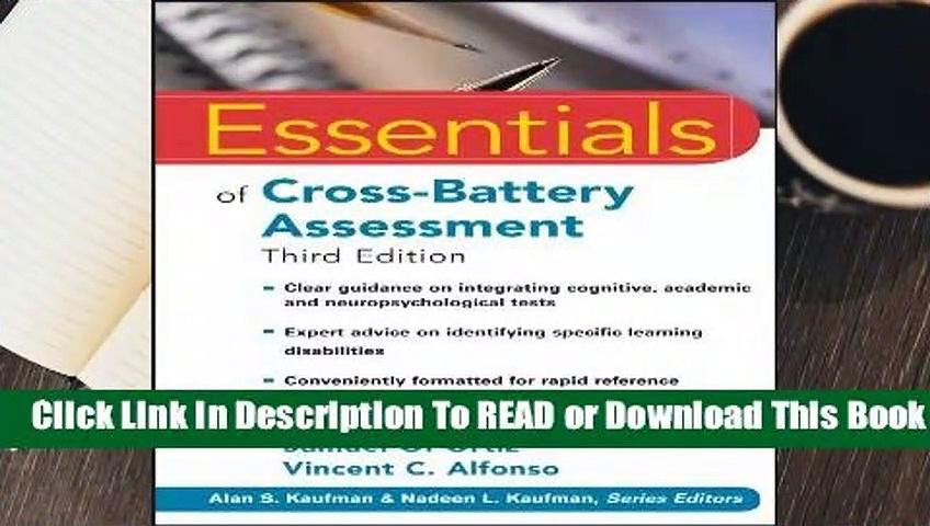 Full E-book  Essentials of Cross-Battery Assessment (Essentials of Psychological Assessment)