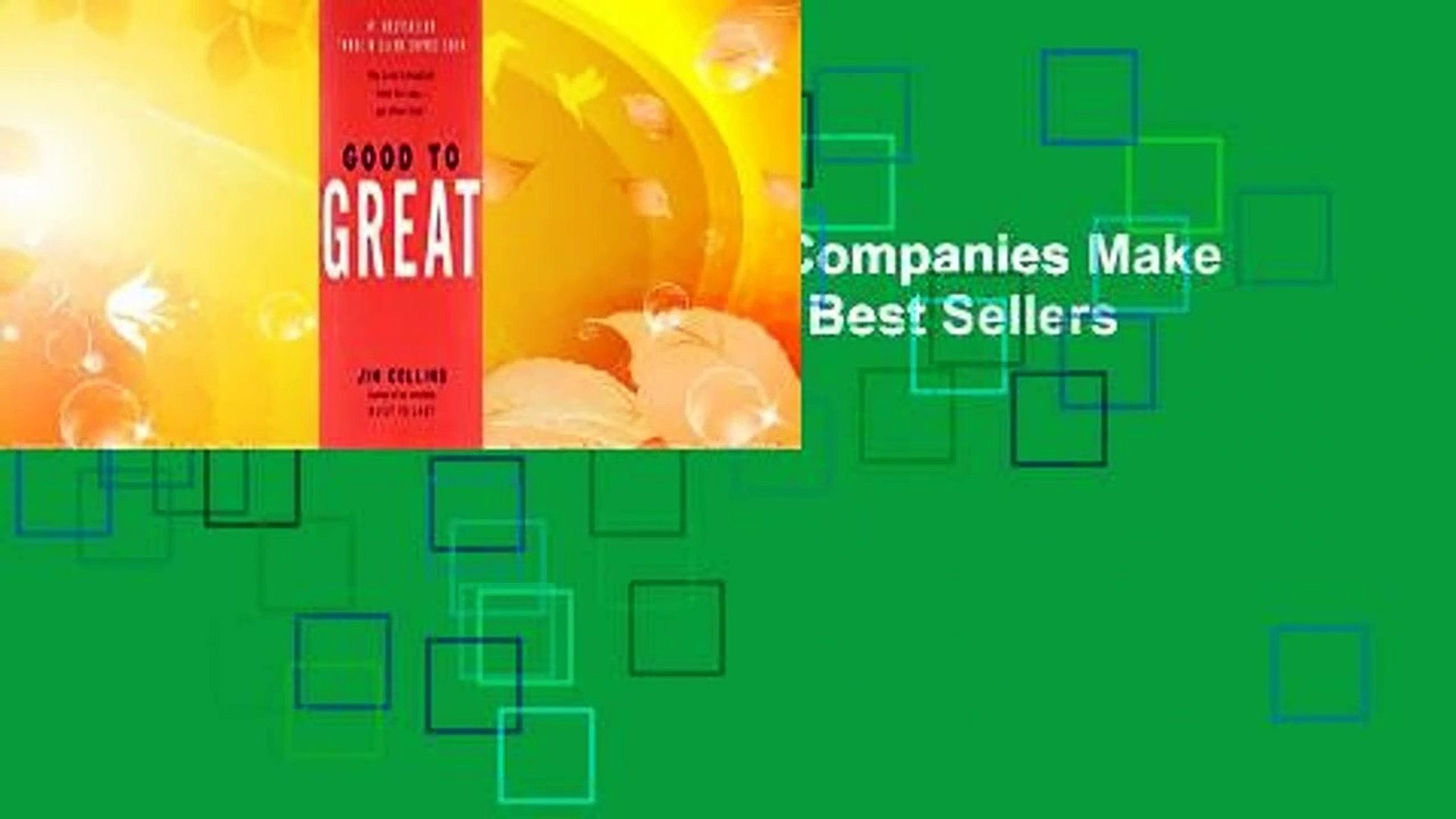 Good to Great: Why Some Companies Make the Leap... and Others Don't  Best Sellers Rank : #1