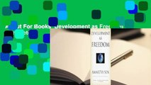About For Books  Development as Freedom Complete