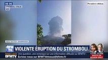 Les images stupéfiantes de la violente éruption du volcan Stromboli en Sicile