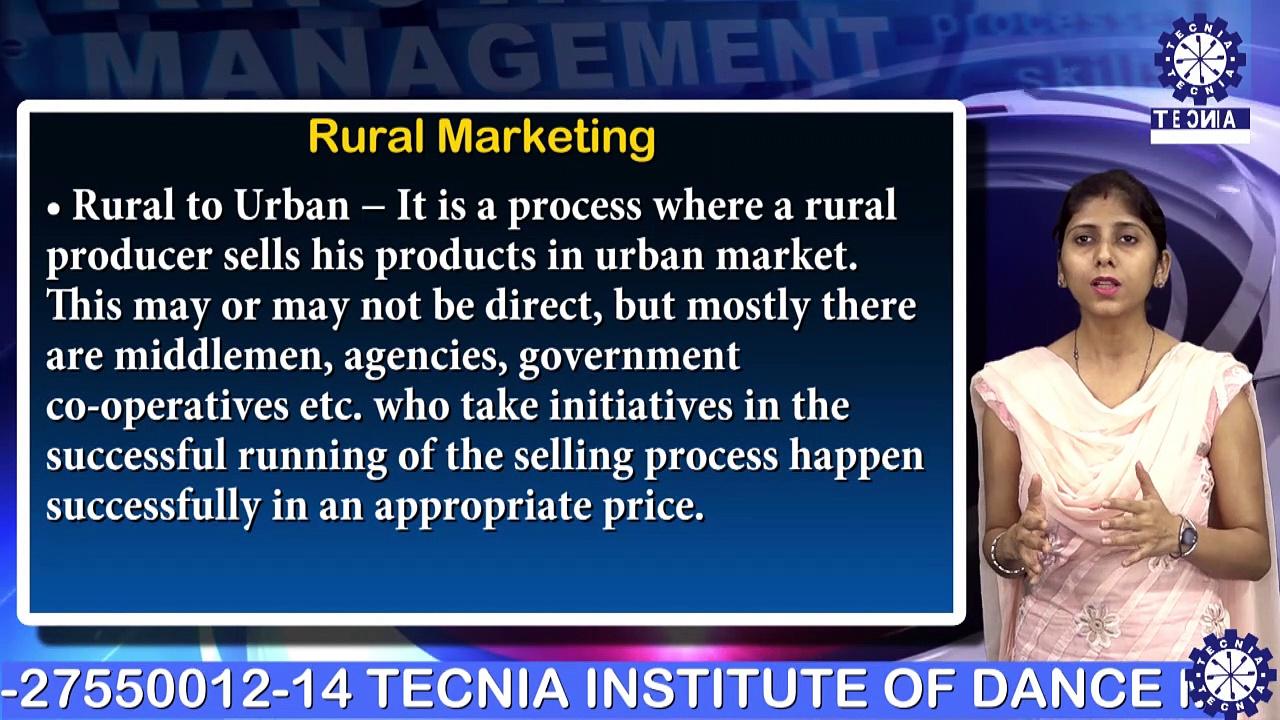 Ms. Monika Agarwal || Rural marketing || MBA || TIAS || TECNIA TV