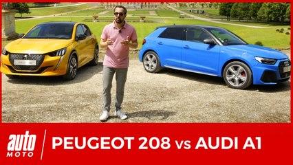 Nouvelle Peugeot 208 face à l'Audi A1 : 1er DUEL