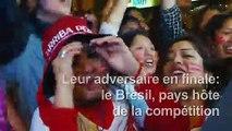 Copa America: des supporters réagissent après la victoire 3:0 du Pérou sur le Chili en demi-finale