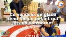 Un vendeur de glace rend fou un enfant