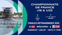 Championnats de France Junior J16 et Senior moins de 23 ans (U23), Dimanche 7 Juillet 15h10