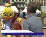 CdM (F) - La mascotte Ettie était de la partie à Lyon