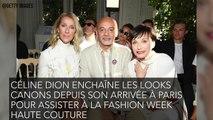 Céline Dion ose le carré court et la robe à plumes