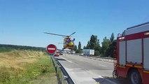 Carambolage  sur l'A35 à Ebersheim: un blessé grave évacué